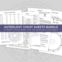 Astrology Cheat sheet. Witchy Bundle