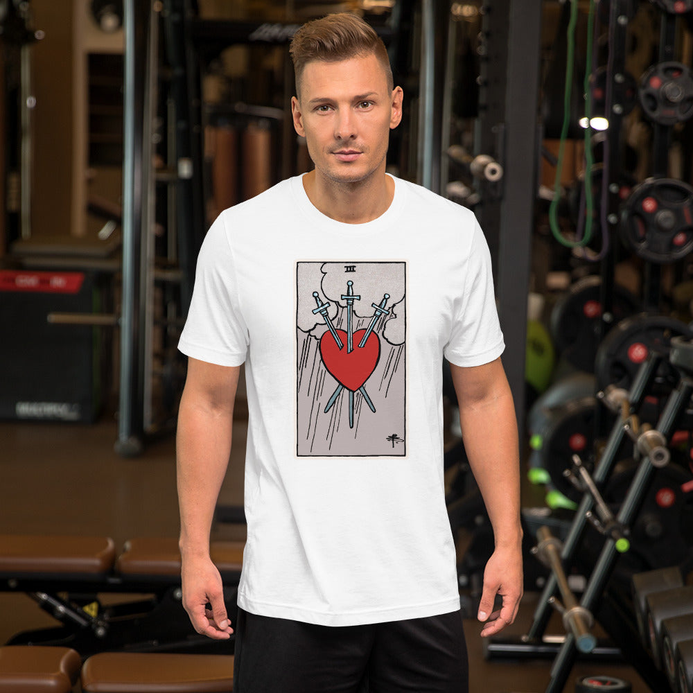 Tarot card Three of Swords Unisex T-Shirt