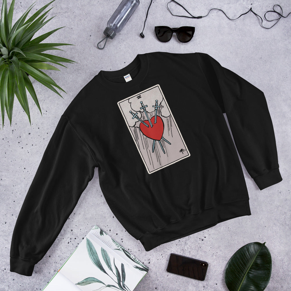 Tarot card Three of Swords Unisex Sweatshirt