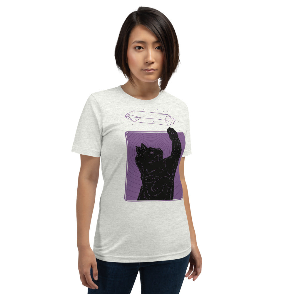 Crystal Cat Purple Unisex T-Shirt