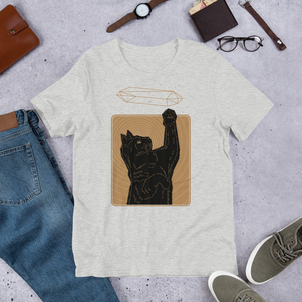 Crystal Cat Gold Unisex T-Shirt