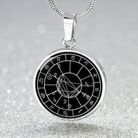 Personalized Natal Chart Necklace - Black