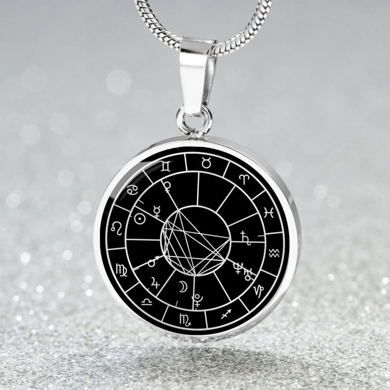 Birth Chart Necklace - Black