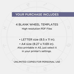Astrology Chart Wheel Templates