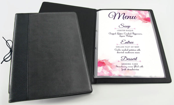 R'fillae A4 PU Leather Refillable Menu Folder