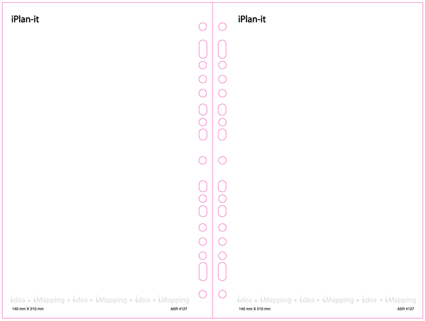 [Buy 1 Get 1 Free] iPlan-it Blank Sheets Diary Planner Refill