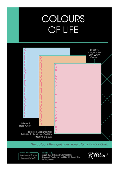 R'fillae A5/A6 Organiser Planner Refill Colour of Life