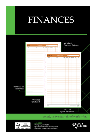 R'fillae A5 3Z Planning System Finance Planner Diary Refill