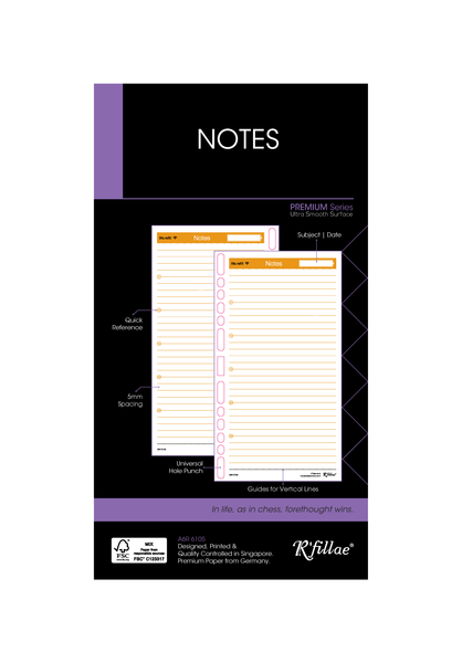 R'fillae A5/A6 Notes (FSC Certified) Planner Refill 80 sheets