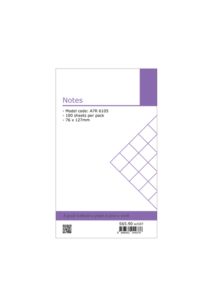 R'fillae A7 Notes Organiser Planner Refill