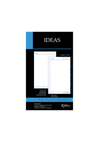 R'fillae A7 Ideas Plain Paper Refill