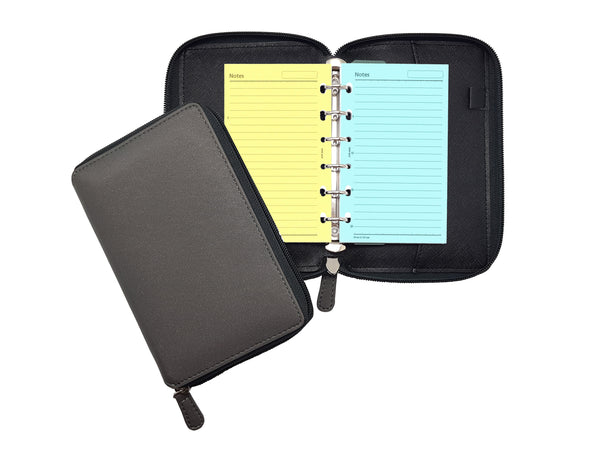R'fillae A7 PU Leather Refillable Diary/Organiser/Planner w/zip