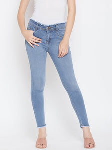 Stretchable with frayed hems Bata Blue Jeans - NiftyJeans