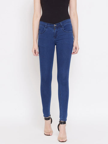 Slim Fit Stretchable Bata Blue Jeans - NiftyJeans