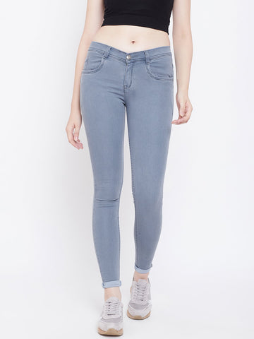 Slim Fit Stretchable Grey Jeans - NiftyJeans