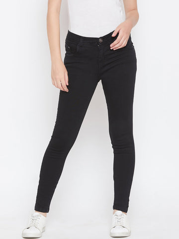 Slim Fit Stretchable Black Jeans - NiftyJeans