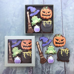 Juliet Stallwood Cakes & Biscuits-Witches Halloween Biscuit box