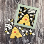 Juliet Stallwood Cakes & Biscuits-Bee Mine Biscuit Gift Box 6