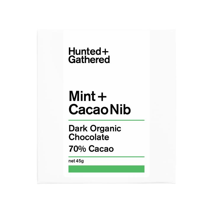 Hunted + Gathered Chocolate - Mint + Cacao Nib