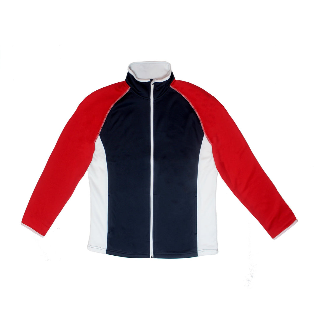 Men's Poly-flex RED, WHITE & BLUE Full Zip Jacket