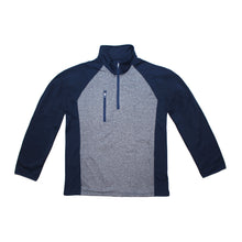 Load image into Gallery viewer, Men's Poly-Flex ¼ Zip Pullover with Heather front panel