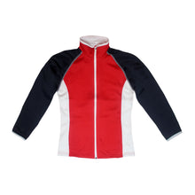 Load image into Gallery viewer, Ladies Poly-flex RED, WHITE & BLUE Full Zip Jacket