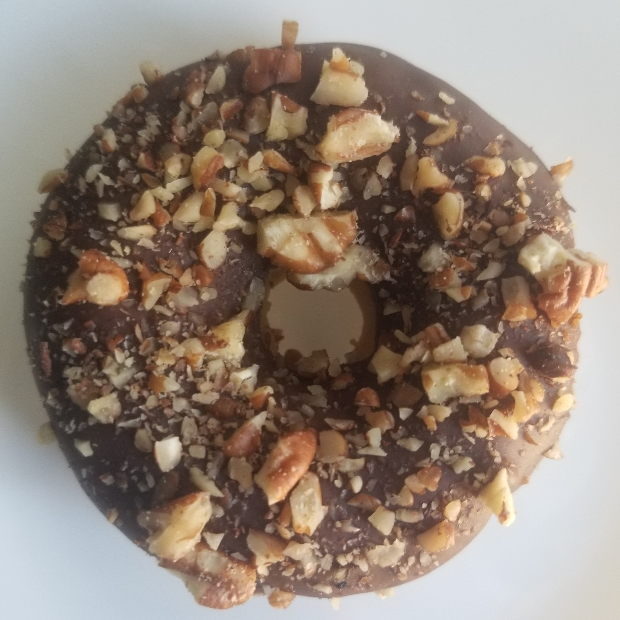 Lo-Ca Plain Donut with Chopped Pecans (Calories 378 Net Carbs 2)