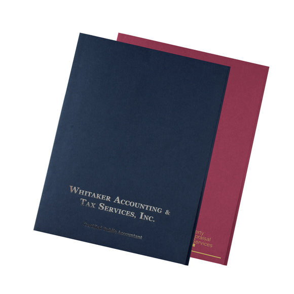 Custom Foil Stamped Presentation Folders