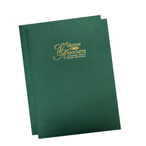 Custom Foil Stamped Two Piece Report Cover Sets