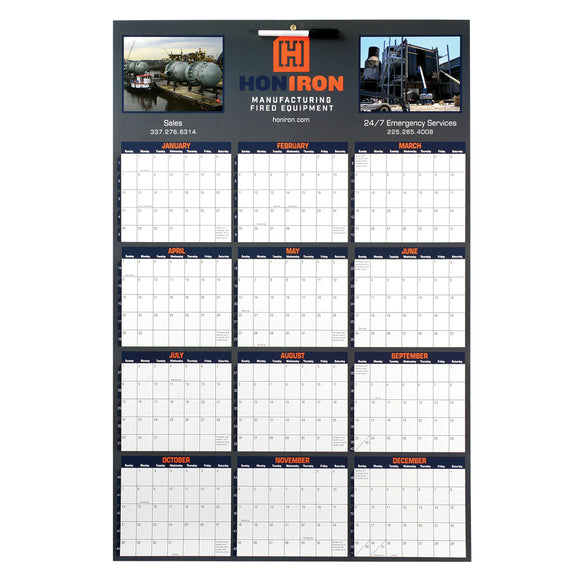 Custom Imprinted Single Sheet Wall Calendars