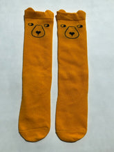 Load image into Gallery viewer, Mustard bear socks
