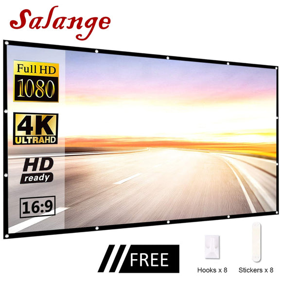 Salange Led Projector Screen Portable
