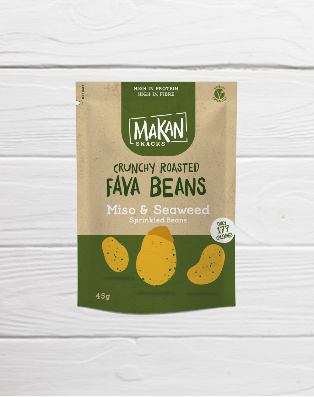 Miso and Seaweed Crunchy Roasted Fava Beans (10 x 45g packs)