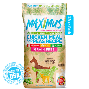 Load image into Gallery viewer, Maximus Super Premium Adult Chicken Meal And Peas Recipe-  24 Lb
