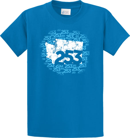 253 Area Code T-Shirt  #32187