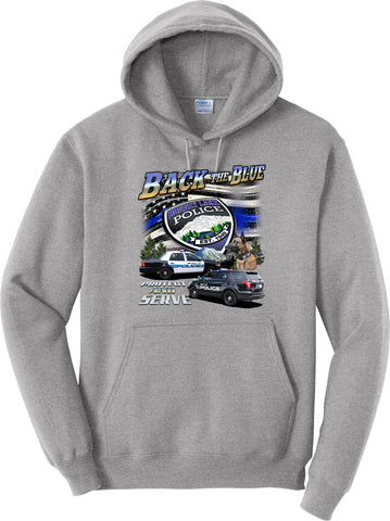 "Bonney Lake Police Department Hoodie ""Back the Blue"" #33825"
