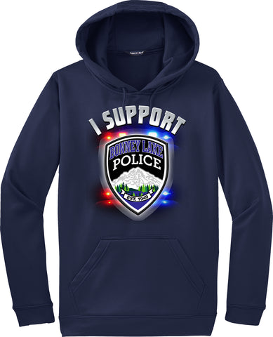 "Bonney Lake Police Department Hoodie ""I support"" #33830"
