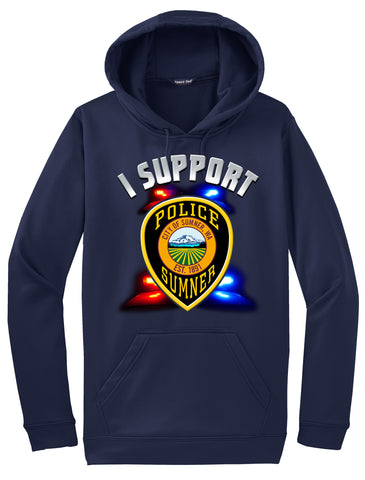 "Sumner Police Department Morale Hoodie ""I support"" #33832"