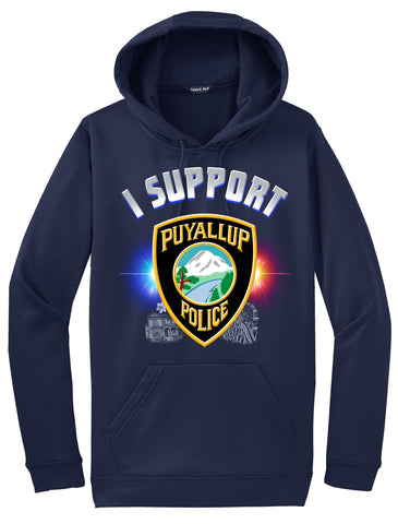 "Puyallup Police Department Hoodie ""I support"" #33835"