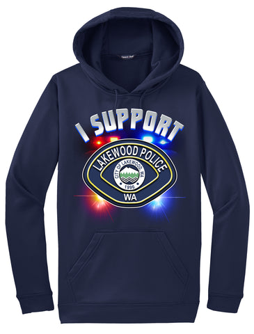"Lakewood Police Department Morale Hoodie ""I support"" #33840"