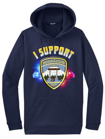 "Wilkeson Police Department Morale Hoodie ""I support"" #33844"