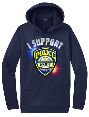 "Buckley Police Department Morale Hoodie ""I support"" #33848"