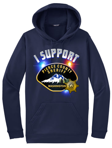 "Pierce County Sheriff Department Morale Hoodie ""I support"" #33849"