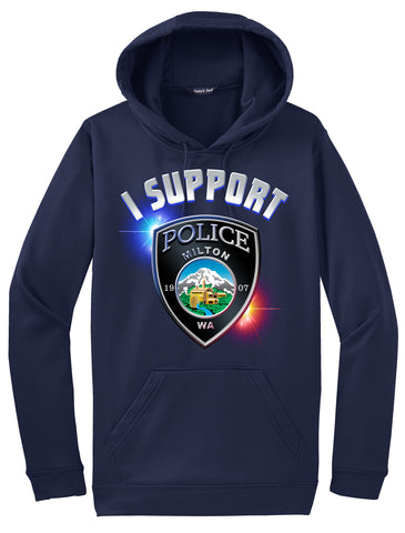"Milton Police Department Morale Hoodie ""I support"" #33857"