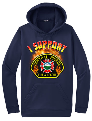 "Central Pierce Fire & Rescue Morale Hoodie ""I support"" #33893"