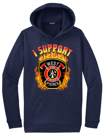 "West Pierce Fire & Rescue Morale Hoodie ""I support"" #33895"