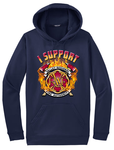 "Valley Regional Fire Authority Navy Blue Hoodie ""I support"" #33967"