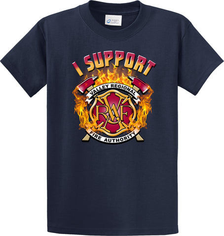 "Valley Regional Fire Authority  ""I Support"" Navy T-Shirt ""I support"" #33967"