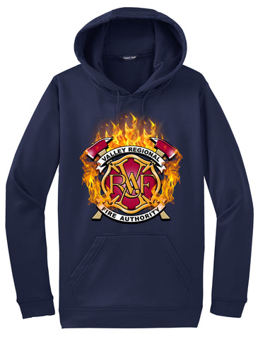 "Valley Regional Fire Authority  ""Fearless Flames"" Navy Hoodie  #33971"