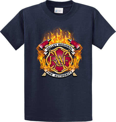 "Valley Regional Fire Authority ""Fearless Flames"" Navy T-Shirt #33971"